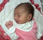 Anežka Zrnková, Hlušovice, narozena 23. ledna ve Šternberku, míra 49 cm, váha 2920 g