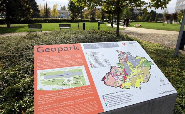 Geopark upřírodovědecké fakulty na Envelopě vOlomouci