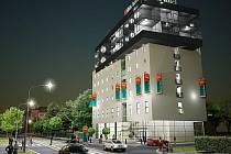 Vizualizace hotelu, který má vyrůst v areálu bývalých sladoven u Wolkerovy ulice.   Zdroj: HoprGroup
