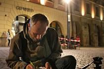 Měření intenzity osvětlení lampu Philips UrbanStar na Horním náměstí v Olomouci