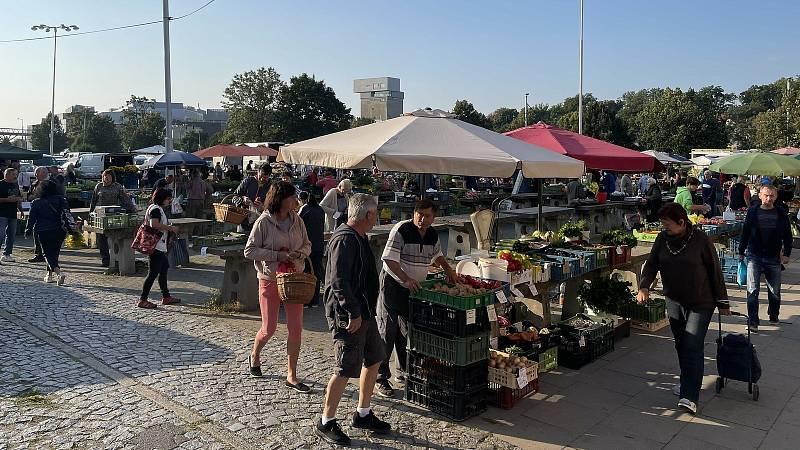 Tradiční sobotní trh v Olomouci, 4. září 2021