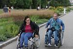 Doprovodný program olomouckého půlmaratonu - jízda běžců na vozíku