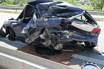 Tragická nehoda na R35 u sjezdu na Mladeč