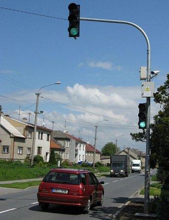 Zastavovací semafor vKožušanech-Tážalech