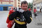 Trénink hasičů Olomouckého kraje na Mistrovství ČR v požárním sportu