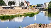 Povodí Moravy buduje v Olomouci na řece Moravě protipovodňová opatření