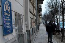 Březen 2013. Policisté zasahují u loupeže ve zlatnictví ve Vídeňské ulici v Olomouci