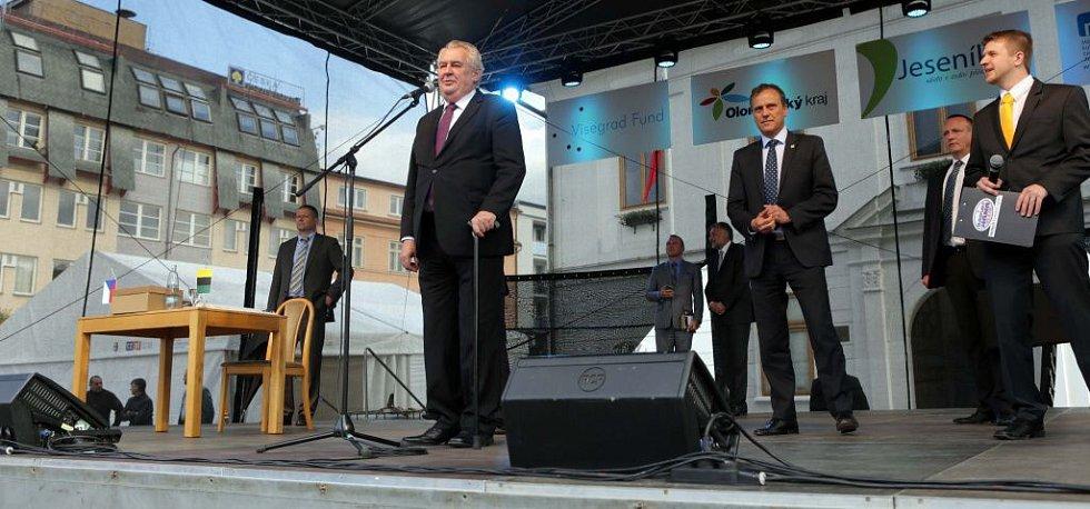 Prezident Zeman v Jeseníku