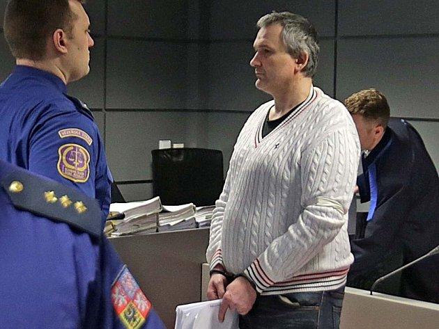 Radek Březina u olomouckého krajského soudu
