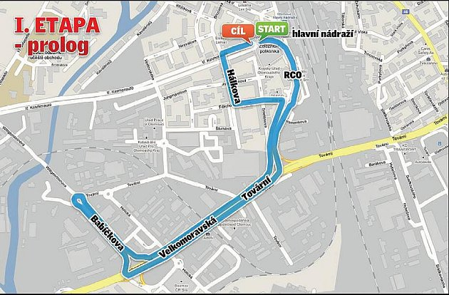 Czech Cycling Tour 2010 - I. etapa, 8.7. Olomouc - prolog /3,7 km/, start 17:00