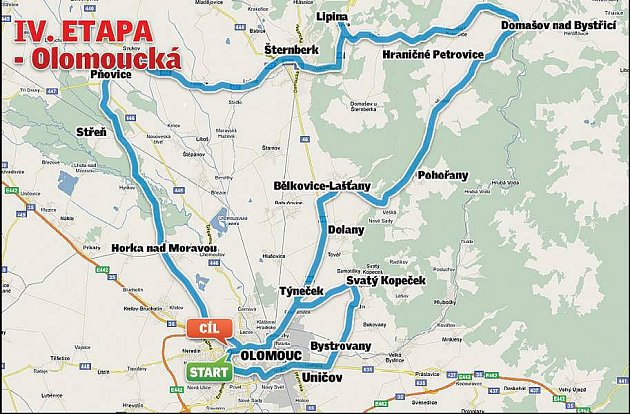 Czech Cycling Tour 2010 - 4. etapa, 11.7. Olomouc - Olomouc /145 km/, start 11.00