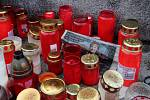 Vzpomínka na Vlastu Chramostovou u Sloupu Nejsvětější Trojice v Olomouci - 10. října2019