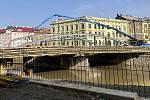 Betonování mostu v Masarykově třídě v Olomouci, 24. února 2021
