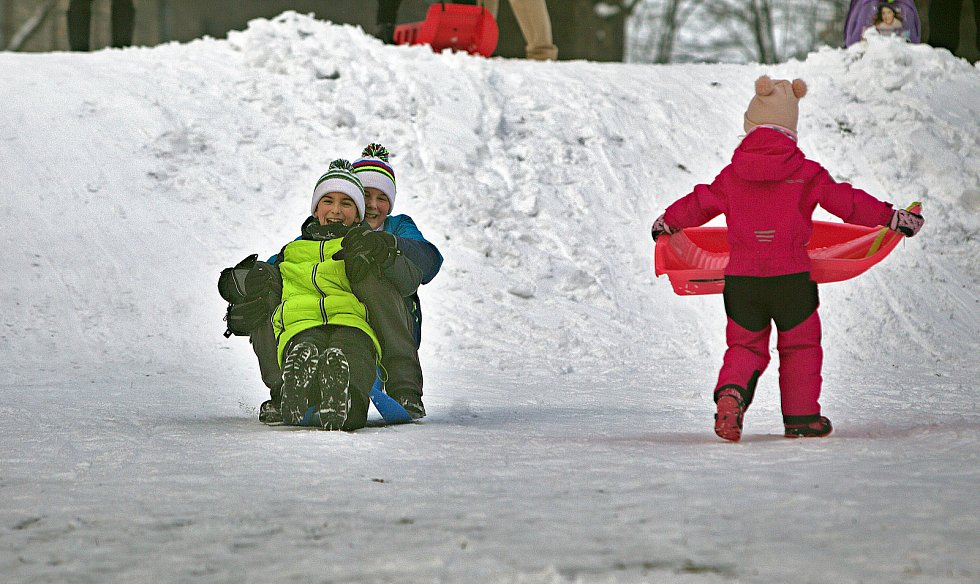 Sněhová nadílka 28. 1. 2019 - Olomouc Smetanovy sady