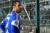 Michal Ordoš před kotlem olomouckých fans ve Zlíně