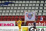 Protest fanoušků Sigmy při zápasu s Jihlavou - prázdná tribuna