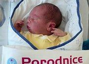 Matyáš Drliczek, Bělkovice-Lašťany, narozen 11. prosince ve Šternberku, míra 53 cm, váha 3930 g