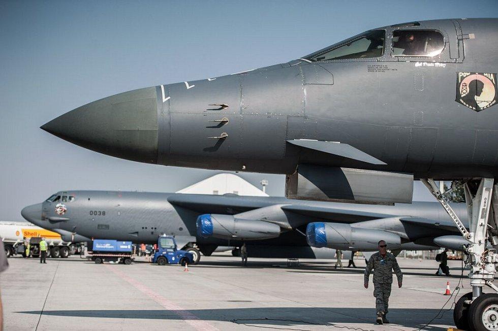 Americký bombardér B-52 na Dnech NATO na mošnovském letišti