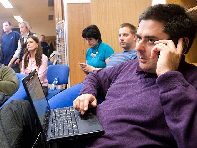 Komunální volby v Olomouci 2010: volební štáb ODS - primátor Martin Novotný