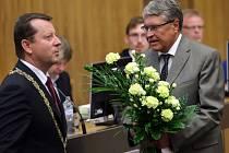 Jaromír Czmero (vpravo) a primátor Antonín Staněk