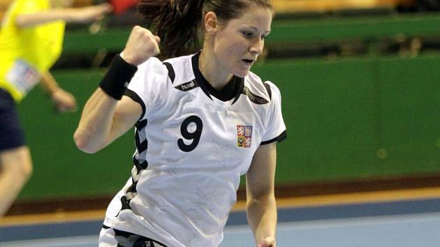 Kristýna Salčáková v kvalifikaci na MS v Olomouci