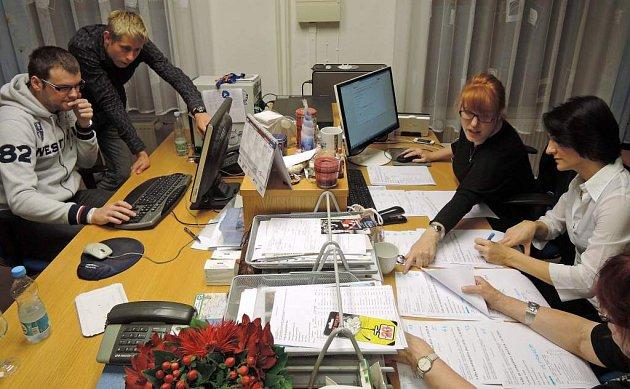 Štáb ODS vOlomouci. Komunální volby 2014
