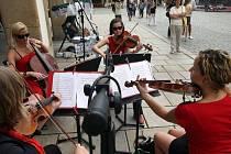 Protestní petice a koncert studentů olomoucké konzervatoře