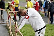 Fotbalisté Uničova porazili 1. HFK Olomouc (v bílém) 3:1. Luboš Horka
