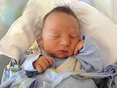 Alex Billík, Křelov-Břuchotín, narozen 15. listopadu v Olomouci, míra 50cm, váha 3310 g.