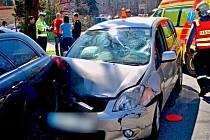 Nehoda v Polské ulici v Olomouci