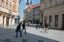 Pekařská a Denisova ulice v Olomouci. Ilustrační foto