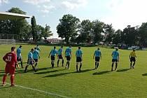 Fotbalisté Postřelmova v utkání s Chválkovicemi