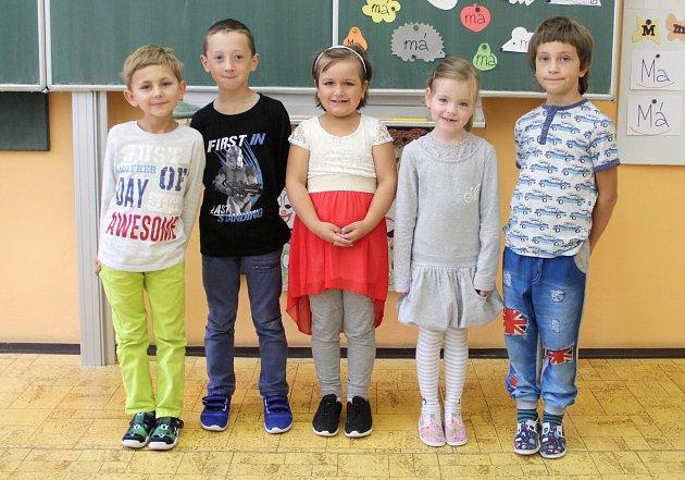 Žáci 1.třídy ZŠ a MŠ Huzová