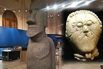 V chystaných expozicích Vlastivědného muzea bude vidět tajemná socha Moai i originál vzácné keltské hlavy nalezené u Rakovníka (malý obrázek vpravo)