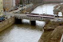 Most na Masarykově třídě v Olomouci