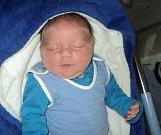 Antonín Menšík, Chotusice, narozen 23. května ve Šternberku, míra 53 cm, váha 4530 g