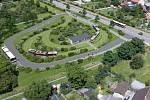 Vizualizace tramvajové trati na Nové Sady a do Slavonína. Schweitzerova - Jižní ulice