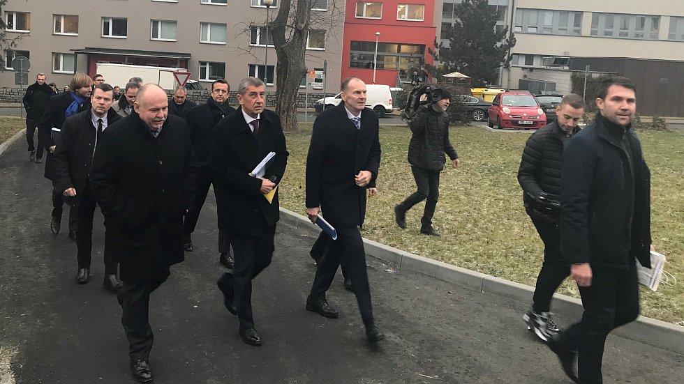 Premiér Andrej Babiš na návštěvě Fakultní nemocnici Olomouc - 8. ledna 2019