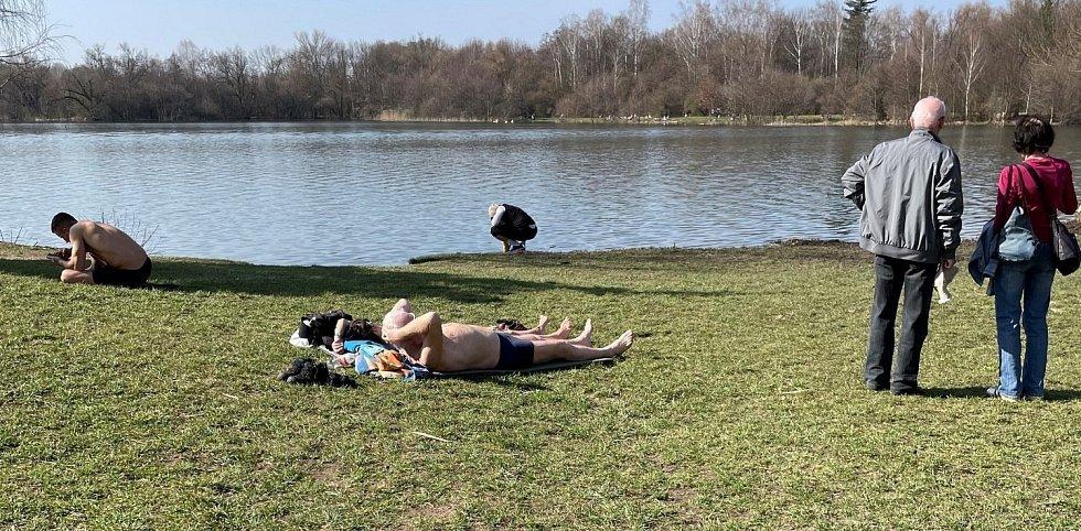 Olomoucké přírodní koupaliště Poděbrady, 31. března 2021