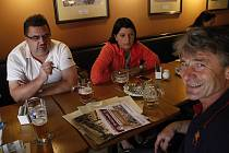 Nejlepší tipéři z kraje se sešli u piva v Olomouci.