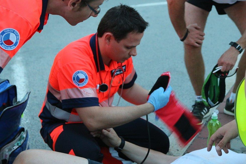Záchranáři v akci při olomouckém půlmaratonu