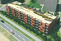 Vizualizace chystané novostavby bytového domu v Dlouhé ulici