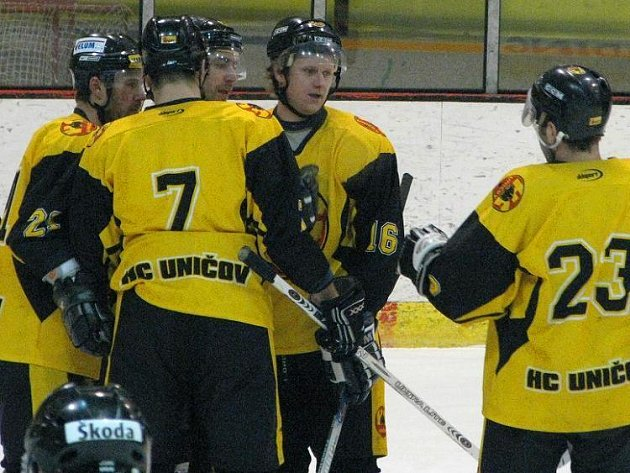 Uničovští hokejisté. Ilustrační foto.