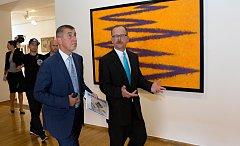 Premiér Andrej Babiš a vláda v Muzeu umění v Olomouci