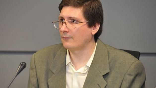 Pavel Nárožný u krajského soudu v Olomouci