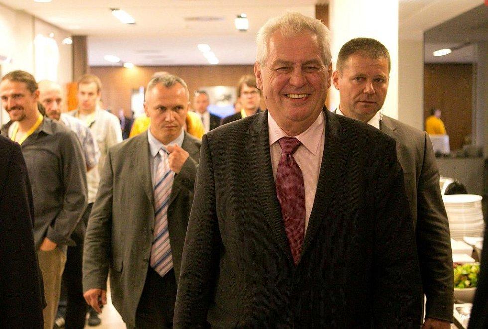 Sjezd KDU -ČSL v Olomouci. Prezident Miloš Zeman