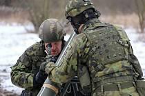 Příslušníci minometné baterie 71. mechanizovaného praporu se připravují na nasazení v novém druhu zahraniční operace, které je čeká v letošním roce.