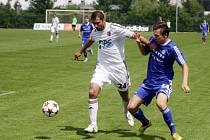 Sigma B (v modrém) proti Prostějovu - Petr Pavlík, Adam Ševčík