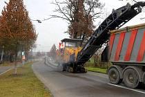 Oprava silnice mezi Olomoucí a Samotiškami