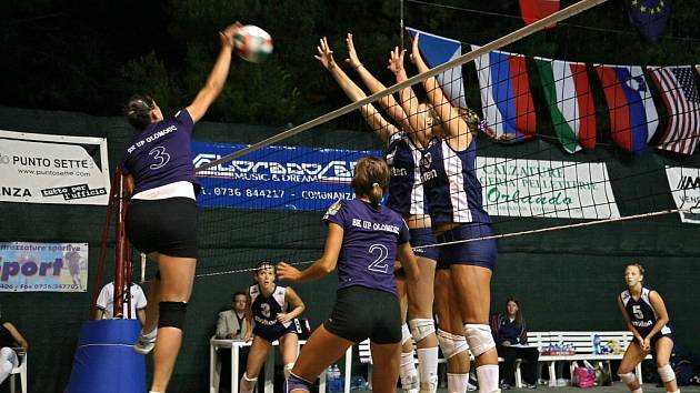 Olomoucké volejbalistky na turnaji v Itálii obsadily druhé místo.
